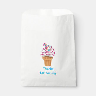 Ice Cream Cone Kids Favor Bag