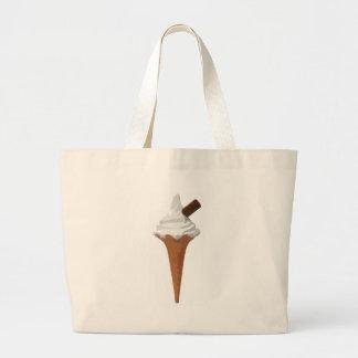 Ice Cream Cone Large Tote Bag