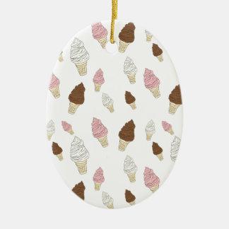Ice Cream Cone Pattern Ceramic Ornament