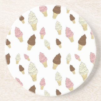 Ice Cream Cone Pattern Coaster