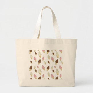 Ice Cream Cone Pattern Large Tote Bag