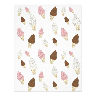 Ice Cream Cone Pattern Letterhead