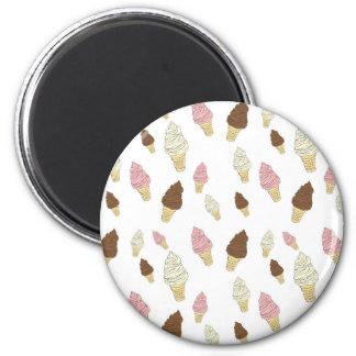 Ice Cream Cone Pattern Magnet