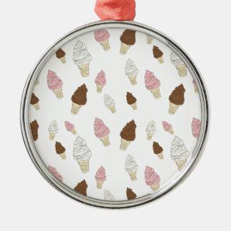Ice Cream Cone Pattern Metal Ornament