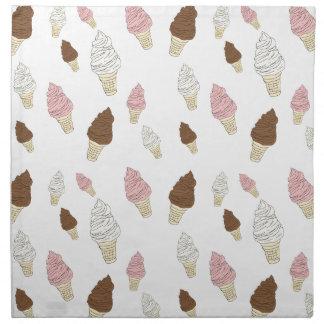 Ice Cream Cone Pattern Napkin