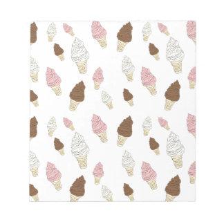 Ice Cream Cone Pattern Notepad