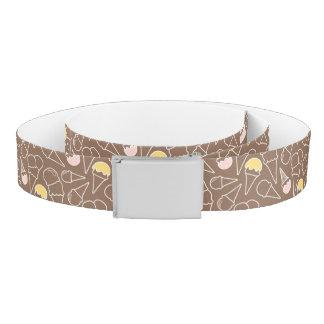 Ice Cream Cone Pattern on Brown Belt