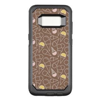 Ice Cream Cone Pattern on Brown OtterBox Commuter Samsung Galaxy S8 Case