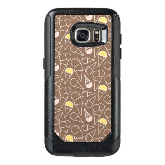 Ice Cream Cone Pattern on Brown OtterBox Samsung Galaxy S7 Case