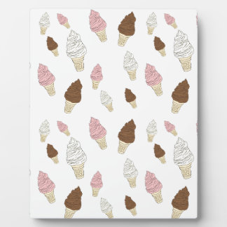 Ice Cream Cone Pattern Plaque