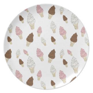 Ice Cream Cone Pattern Plate