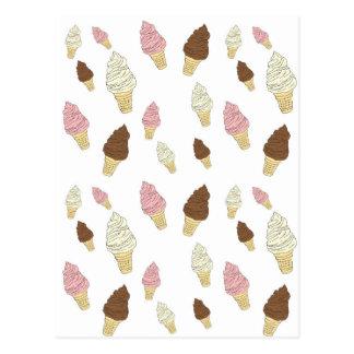Ice Cream Cone Pattern Postcard