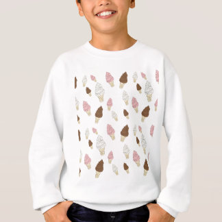 Ice Cream Cone Pattern Sweatshirt