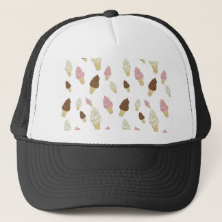 Ice Cream Cone Pattern Trucker Hat