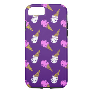 Ice Cream Cone Patterned Purple iPhone 7 Case