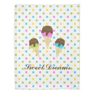Ice Cream Cone Polka Dot Twin Duvet Cover