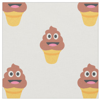 ice cream cone poo emoji fabric