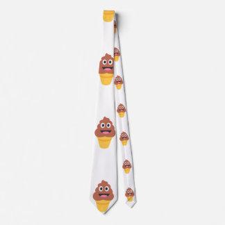 ice cream cone poo emoji mens neck tie menswear