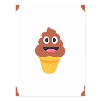 ice cream cone poo emoji postcard