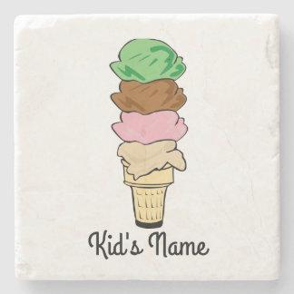 Ice Cream Cone Stone Coaster
