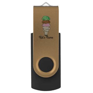 Ice Cream Cone Swivel USB 2.0 Flash Drive