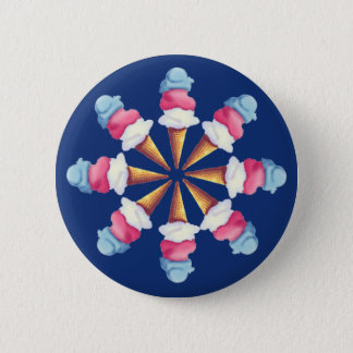 ICE CREAM CONE WHEEL by SHARON SHARPE 2 Inch Round Button