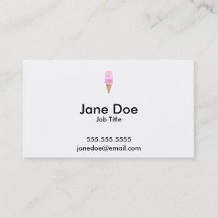 Kawaii business cards profile cards zazzle ca ice cream cone with cute faces kawaii pink business card colourmoves