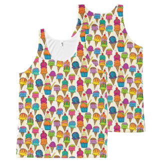 Ice Cream Cones All-Over-Print Tank Top