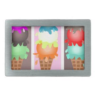 ice cream cones belt buckles