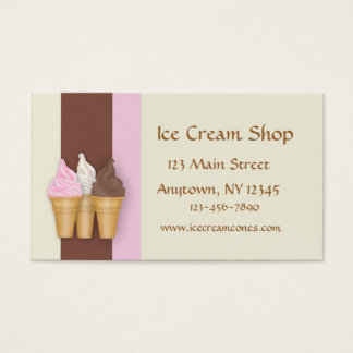 Ice Cream Cones Business Card