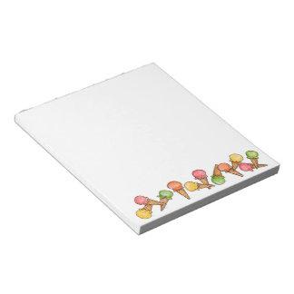 Ice Cream Cones Notepad