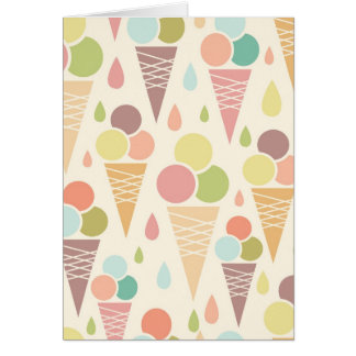 Ice cream cones pattern card