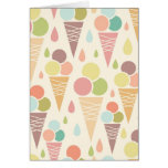 Ice cream cones pattern greeting card