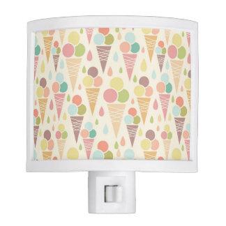 Ice cream cones pattern night lites