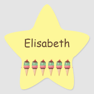 Ice Cream Cones Star Sticker