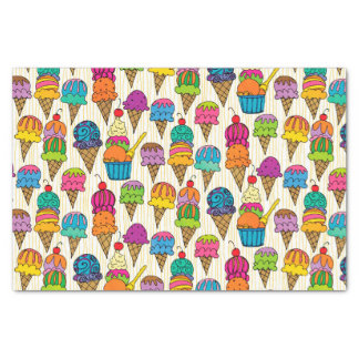 Ice Cream Cones Tissue Paper