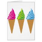 Ice Cream cones vector Card