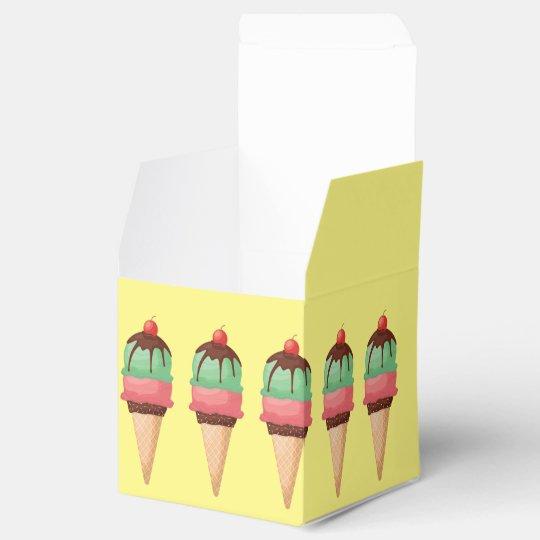 Ice Cream Cones Wedding Favor Boxes