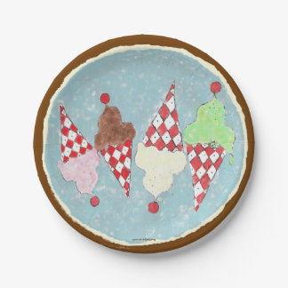 Ice Cream Cookie Crumble 7 Inch Paper Plate