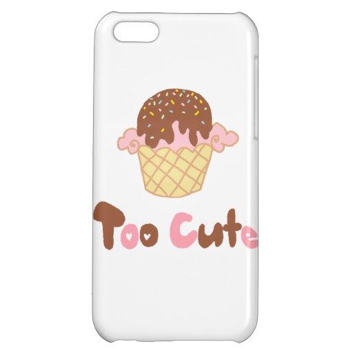 Ice Cream Cupcake Cover For iPhone 5C