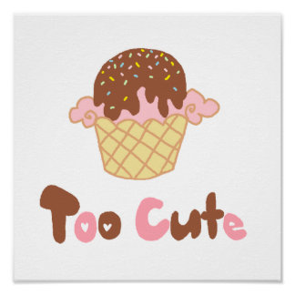 Ice Cream Cupcake Posters