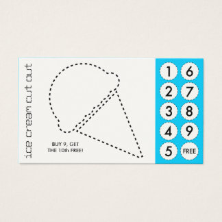 ice cream cut out punch cards