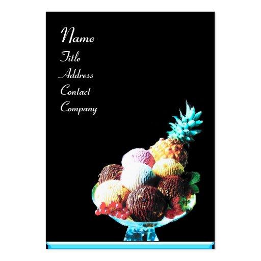 ICE CREAM  - DESERT SHOP,blue black Business Cards