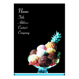 ICE CREAM  - DESERT SHOP,blue black Pack Of Chubby Business Cards