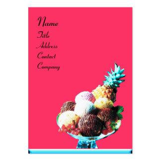 ICE CREAM - DESERT SHOP blue pink black Business Cards
