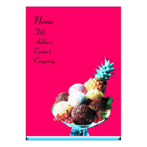 ICE CREAM  - DESERT SHOP,blue pink black Business Card Template