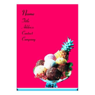 ICE CREAM  - DESERT SHOP,blue pink black Large Business Card