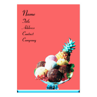 ICE CREAM  - DESERT SHOP,blue pink black Pack Of Chubby Business Cards