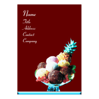 ICE CREAM  - DESERT SHOP,blue red  black Large Business Card