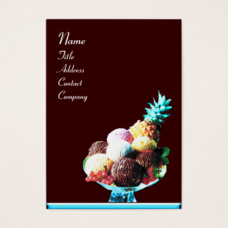 ICE CREAM  - DESERT SHOP,blue red brown Business Card